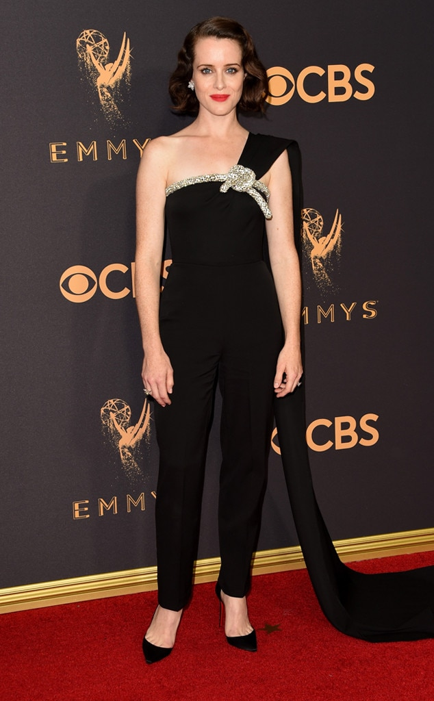 2017 Emmys Red Carpet Arrivals Claire Foy, 2017 Emmy Awards, Arrivals