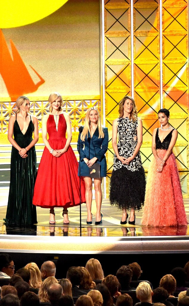 Shailene Woodley, Nicole Kidman, Reese Witherspoon, Laura Dern, Zoe Kravitz, 2017 Emmy Awards, Show