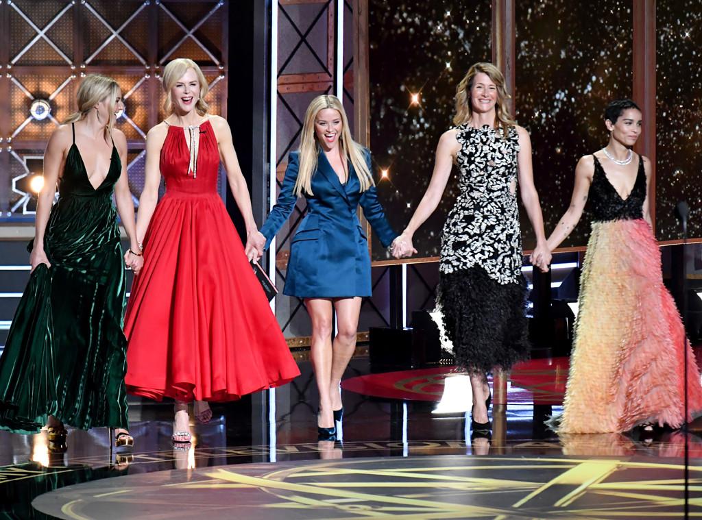 Shailene Woodley, Nicole Kidman, Reese Witherspoon, Laura Dern, Zoe Kravitz, 2017 Emmy Awards