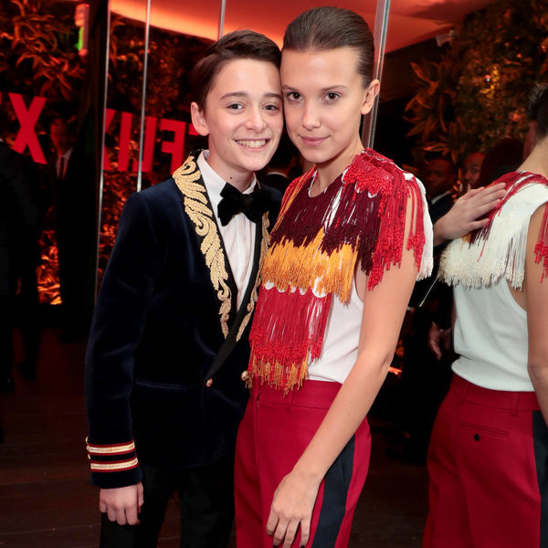 Noah Schnapp, Millie Bobby Brown, Netflix Emmy Party Pics 2017