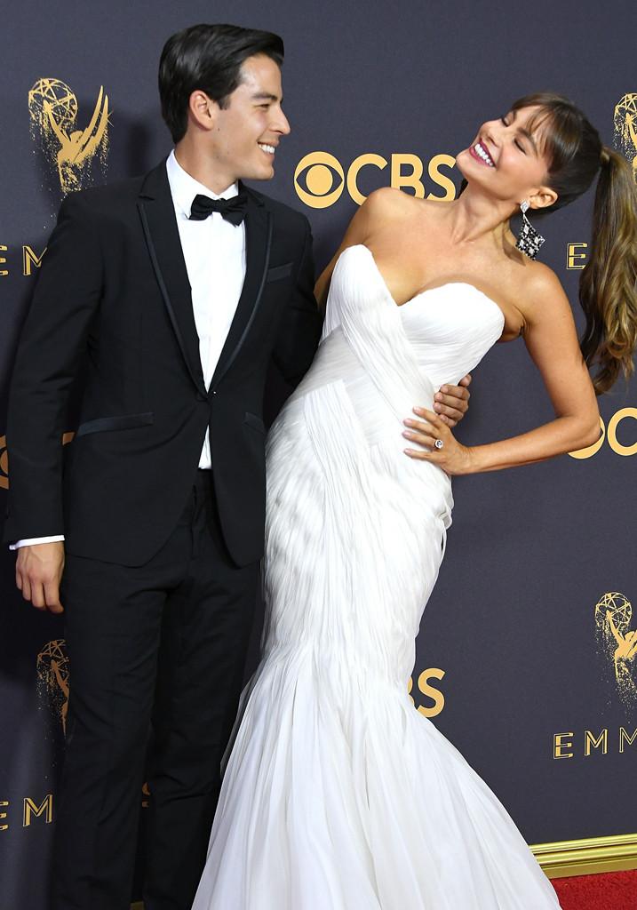 Sofia Vergara, Manolo Gonzalez-Ripoll Vergara, 2017 Emmy Awards