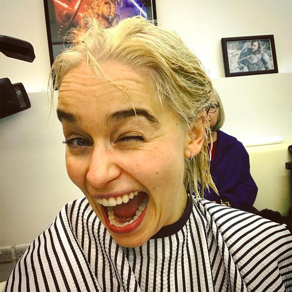 Emilia Clarke, Instagram, Hair