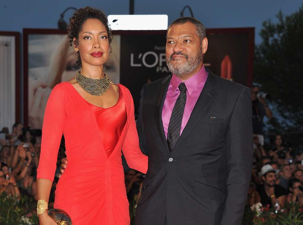 Laurence Fishburne's Wife Gina Torres Photographed Kissing Mystery Man