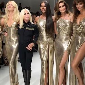 Naomi Campbell, Cindy Crawford, Milan Fashion Week