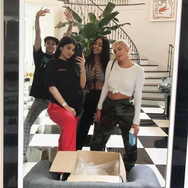 Kylie Jenner, Jordyn Woods, Snapchat