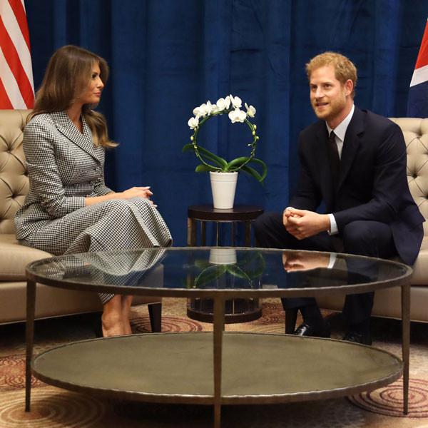 Melania Trump, Prince Harry
