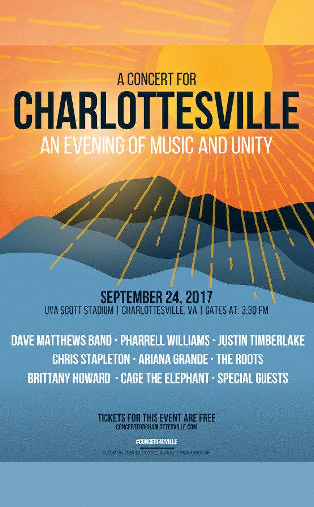 A Concert for Charlottesville Poster