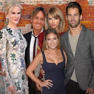 Keith Urban, Nicole Kidman, Eric Decker, Jessie Decker, Taylor Swift