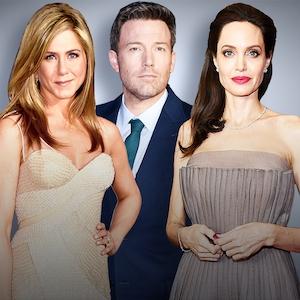 Celebrity Breakups, Jennifer Aniston, Ben Affleck, Angelina Jolie