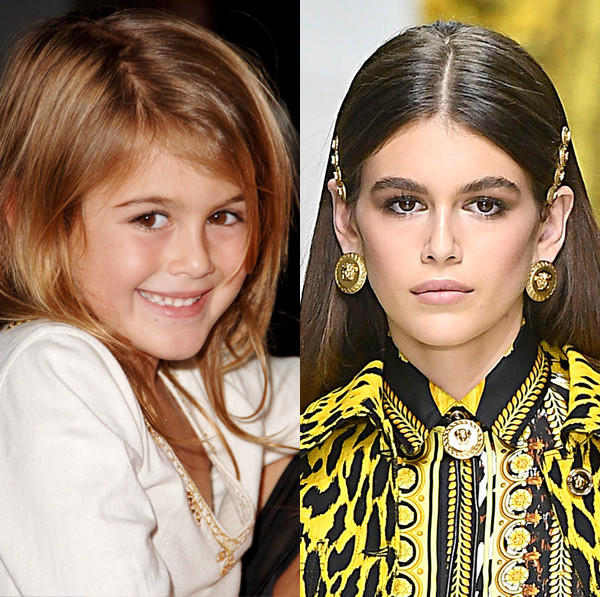 Kaia Gerber, Evolution, Then and Now