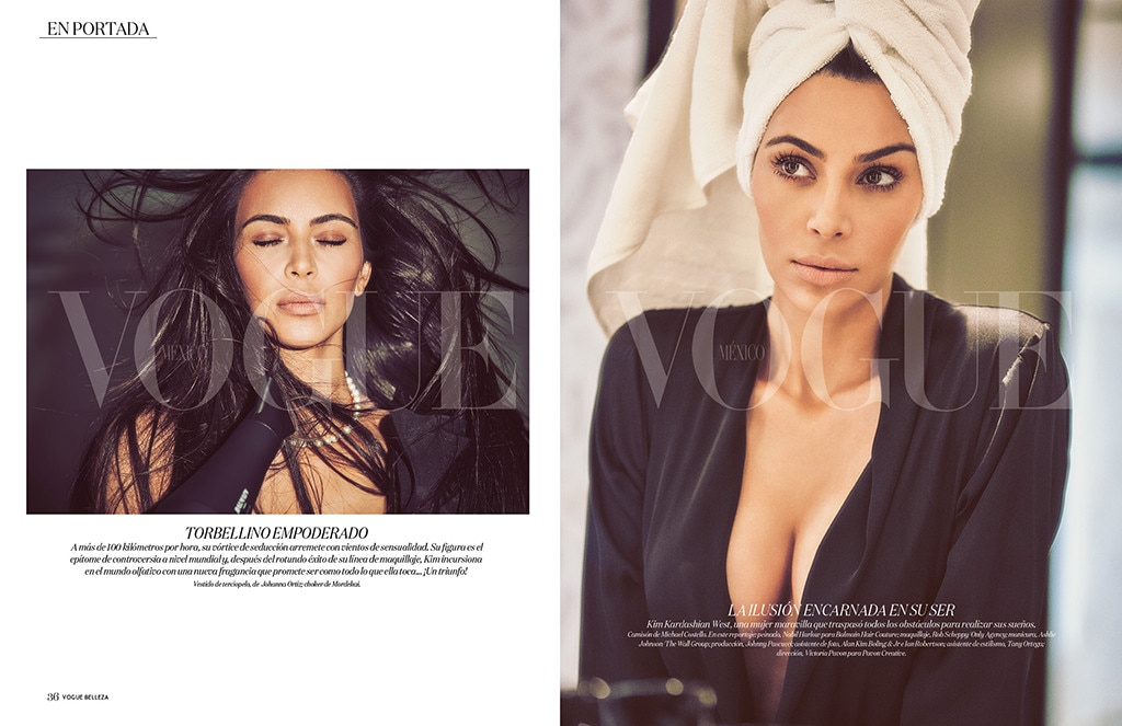 Kim Kardashian Poses N*de In A Bathtub For Vogue Mexico Magazine""