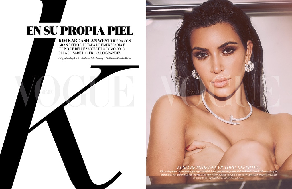 Kim Kardashian Poses N*de In A Bathtub For Vogue Mexico Magazine