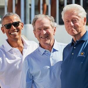 Obama, G.W. Bush, Bill Clinton, Presidents Cup
