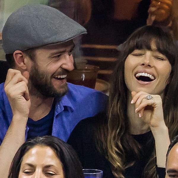 Justin Timberlake & Jessica Biel Show PDA at 2017 U.S. Open