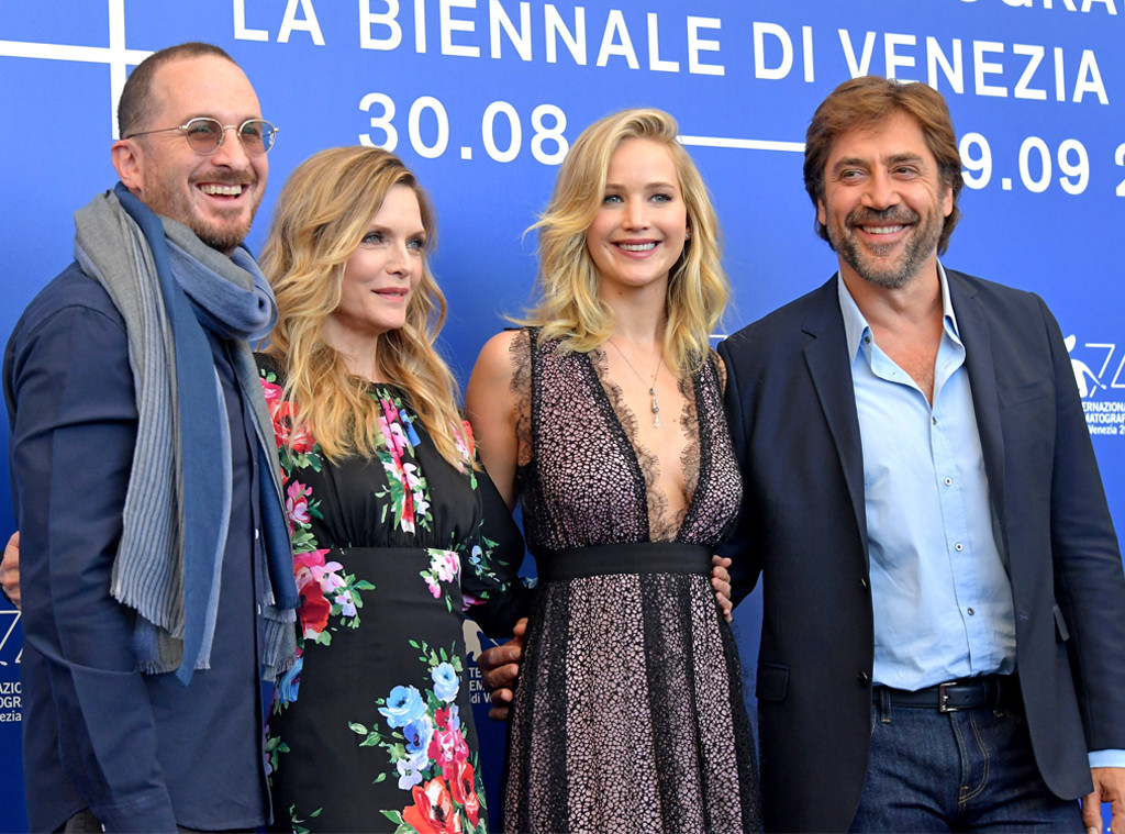 Darren Aronofsky, Michelle Pfeiffer, Jennifer Lawrence and Javier Bardem, Venice Film Festival 2017