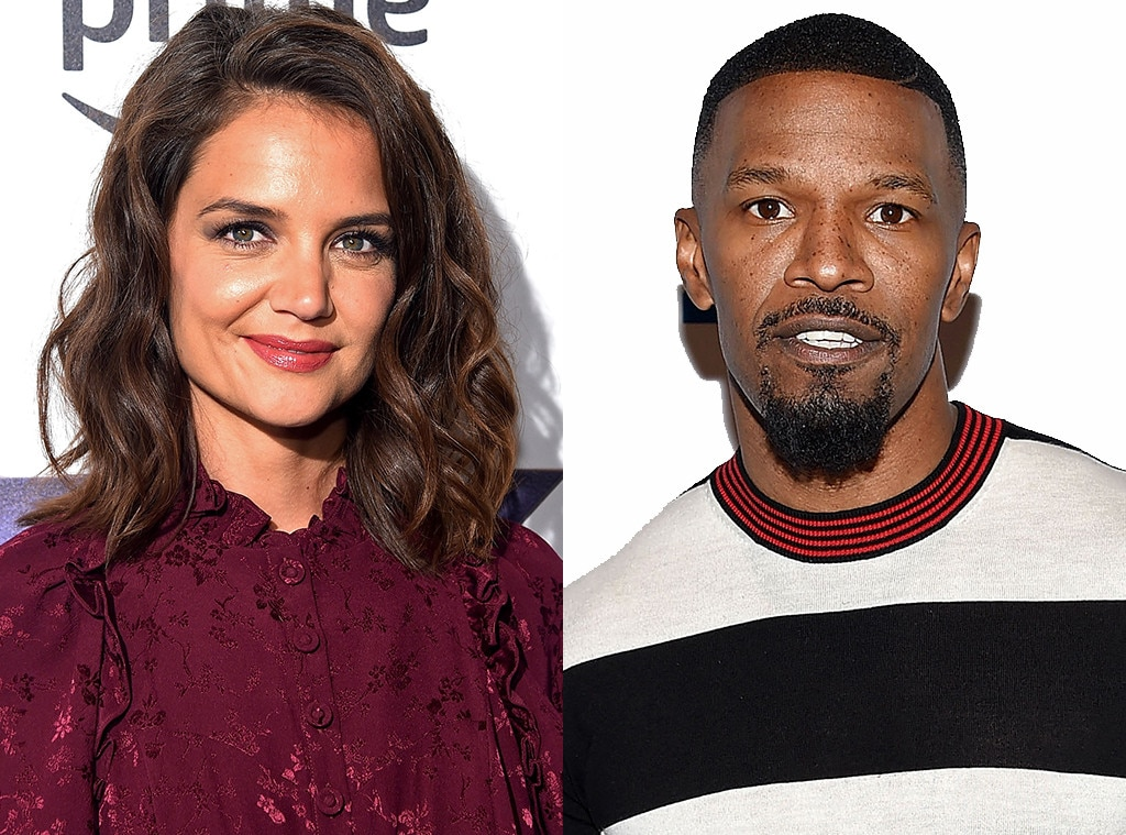 Officially dating: Jamie Foxx and Katie Holmes are finally showing some PDA