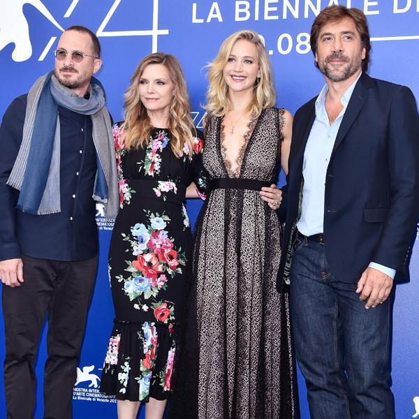 Darren Aronofsky, Michelle Pfeiffer, Jennifer Lawrence, Javier Bardem