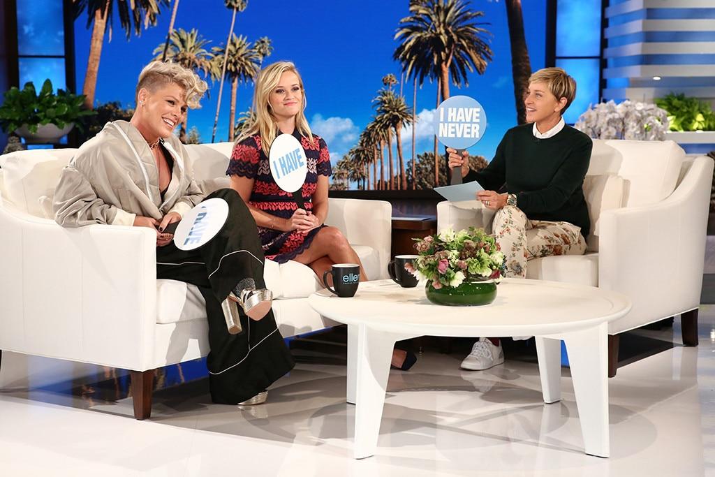 Pink, Reese Witherspoon, The Ellen DeGeneres Show