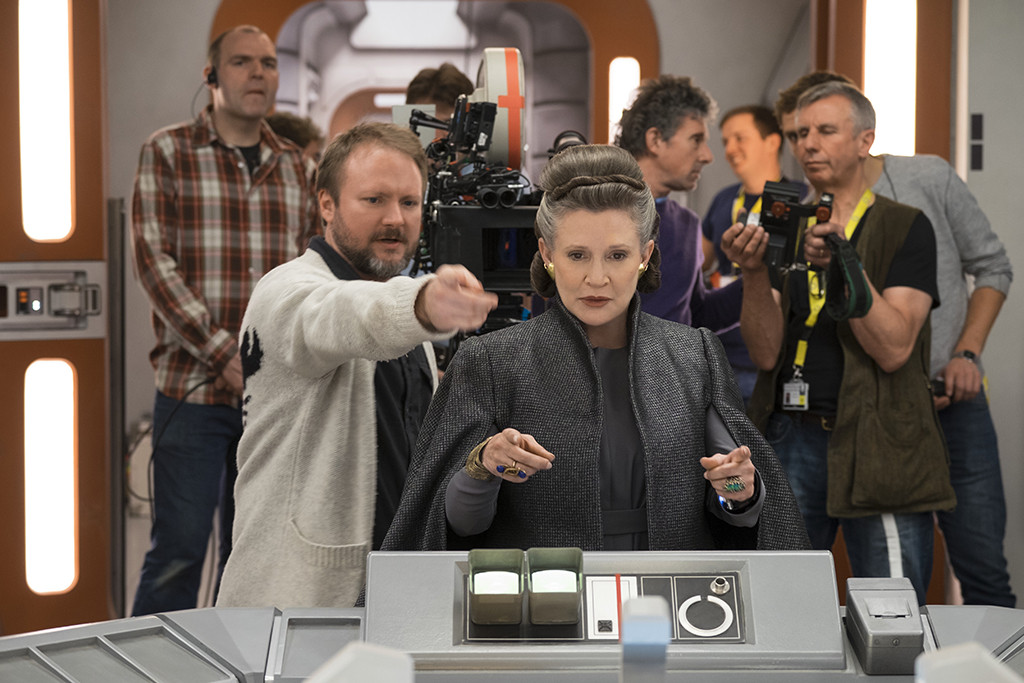 Rian Johnson, Carrie Fisher Star Wars the Last Jedi