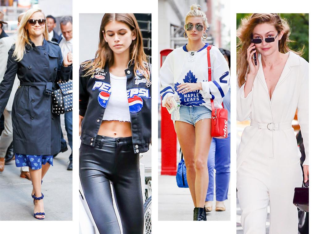 New York Fashion Week Spring 2018 Best Celeb Street Style Looks E News Australia