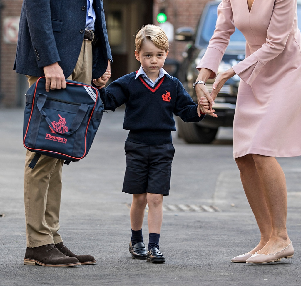 Princess Charlotte dons a pink backpack for 1st day of preschool