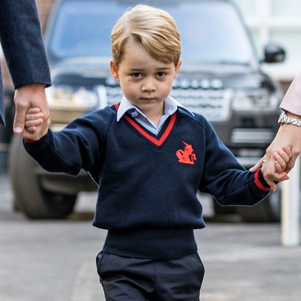 Prince George's First Day at Thomas's Battersea School