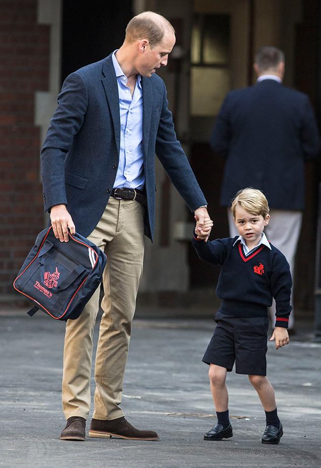 Prince George, Prince William, Thomas's Battersea