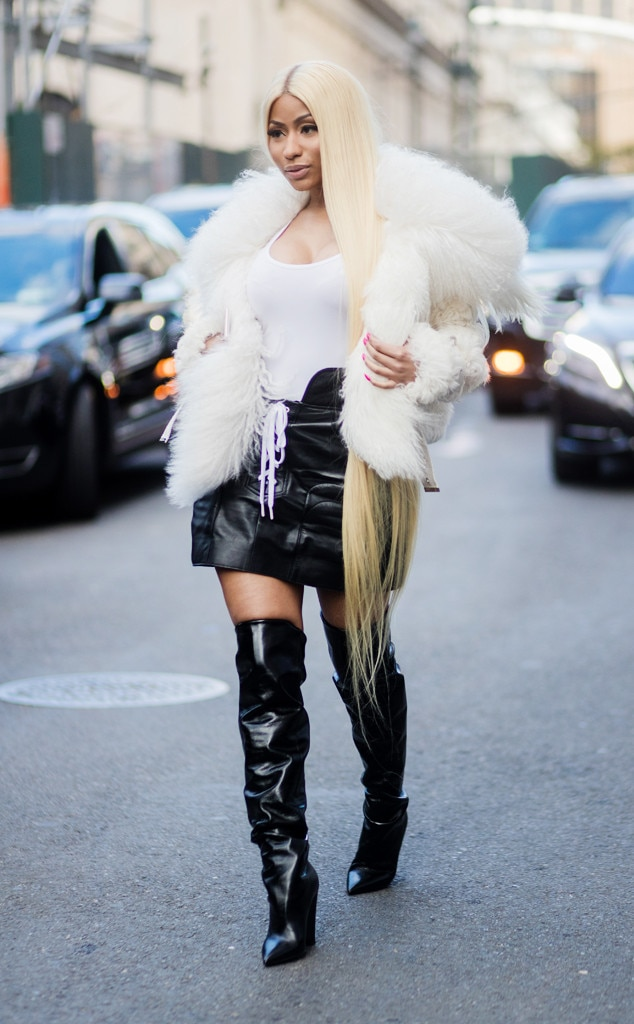 Nicki Minaj From Best Celeb Street Style From Nyfw Spring