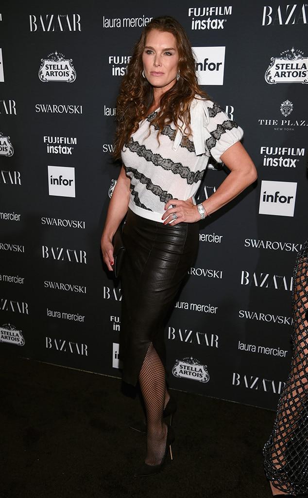 Brooke Shields, NYFW 2017, Harpers Bazaar Party