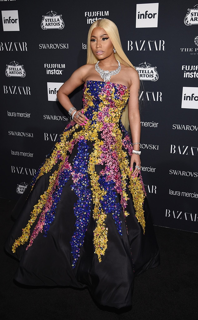 Nicki Minaj, NYFW 2017, Harpers Bazaar Party