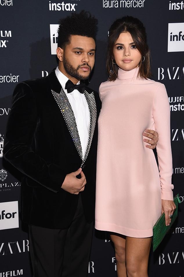 The Weeknd, Selena Gomez, NYFW 2017, Harpers Bazaar Party