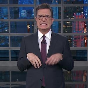 Stephen Colbert, Harvey Weinstein