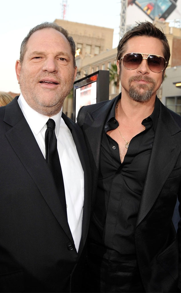 Harvey Weinstein, Brad Pitt