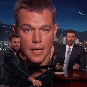 Matt Damon, Chris Hemsworth, Jimmy Kimmel