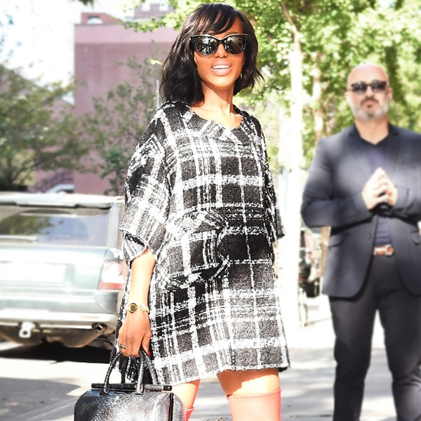 Dare 2 Wear: Kerry Washington's Over-the-Knee Red Boots
