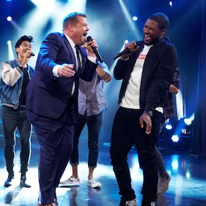 James Corden, Usher, Luke Evans, The Late Late Show, Riff-Off