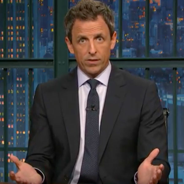 "Seth Meyers Slams President Donald Trump, Harvey Weinstein and ""Powerful, Predatory Men"""