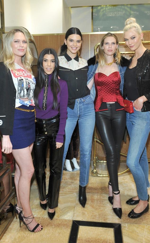 Erin Foster, Kourtney Kardashian, Kendall Jenner, Sara Foster, Karlie Kloss