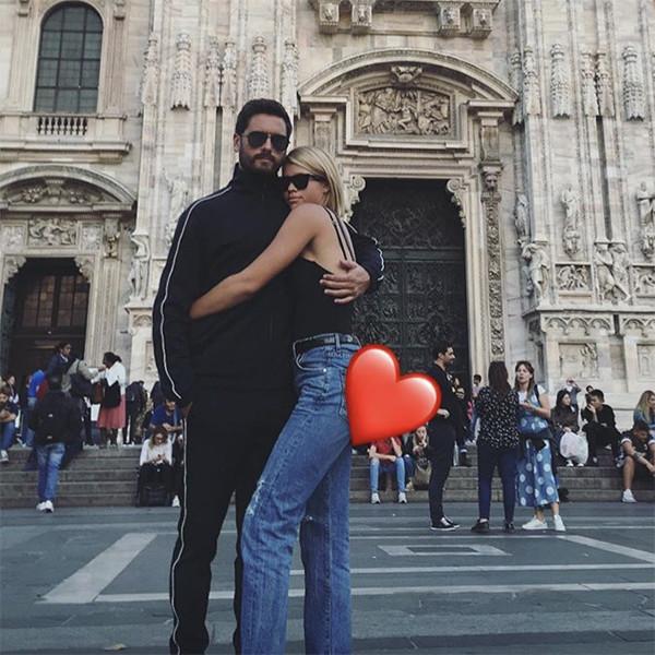 Scott Disick and Sofia Richie Show PDA on Milan Trip