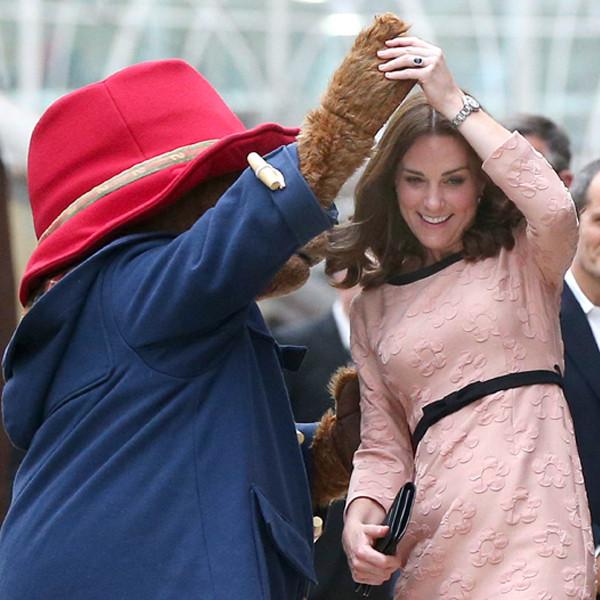 Kate Middleton Takes a Twirl With Paddington Bear During Train Station Visit