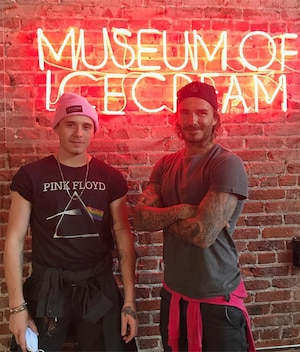 Brooklyn Beckham, David Beckham, Museum of Ice Cream