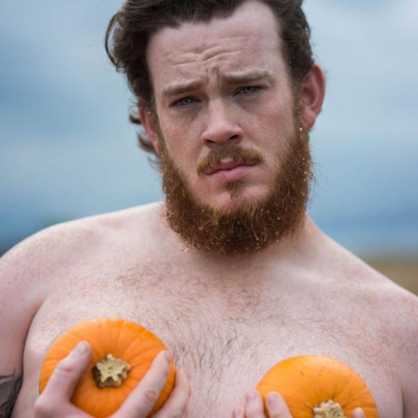 Pumpkin Themed Dudeoir Shoot
