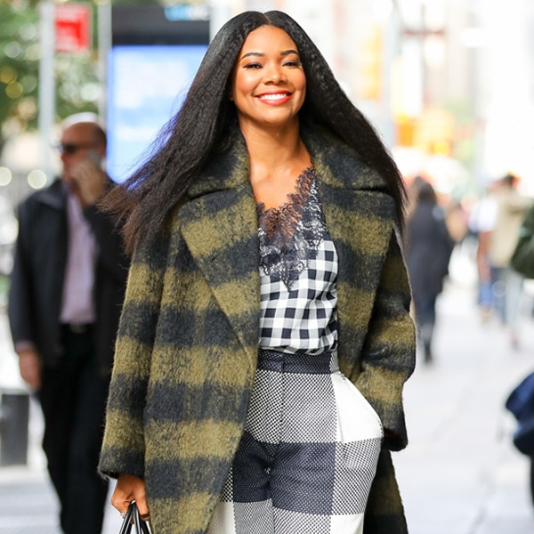 Dare to Wear: Gabrielle Union's Plaid Coat