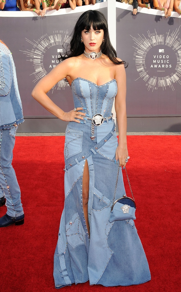 katy perry from 9 times denim was totally acceptable on