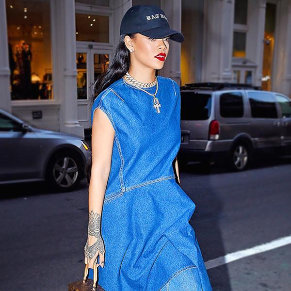 ESC: Denim Dresses, Rihanna