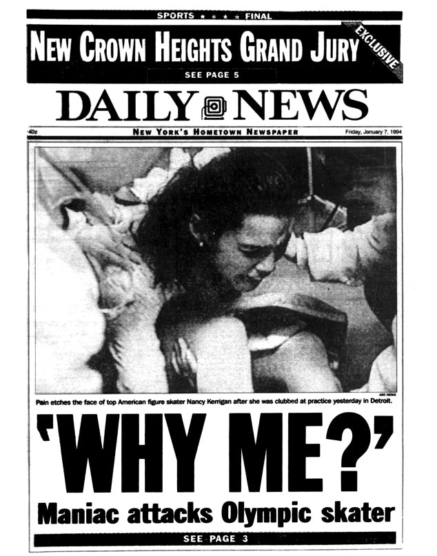 Nancy Kerrigan, Daily News front page, 1994