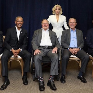 Lady Gaga, 5 Presidents, Jimmy Carter, George H.W. Bush, George W. Bush, Bill Clinton, Barack Obama, One America Appeal Concert