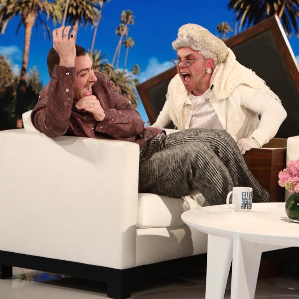 Watch Ellen DeGeneres Scare Sam Smith Twice in Under a Minute