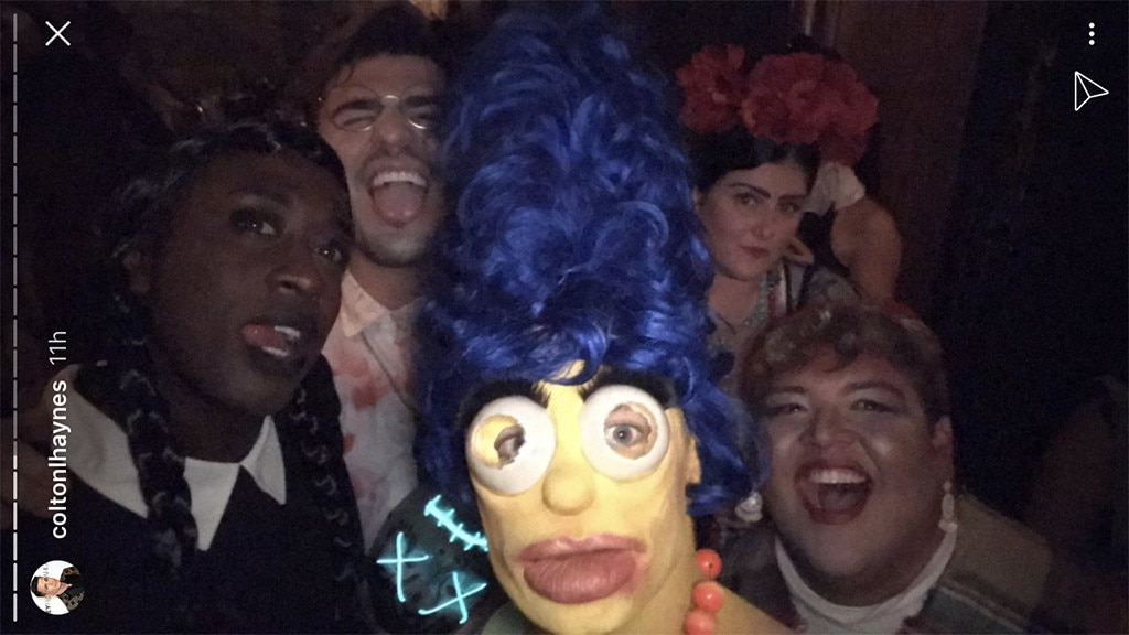 Colton Haynes' Marge Simpson Drag For Halloween Is INSANE