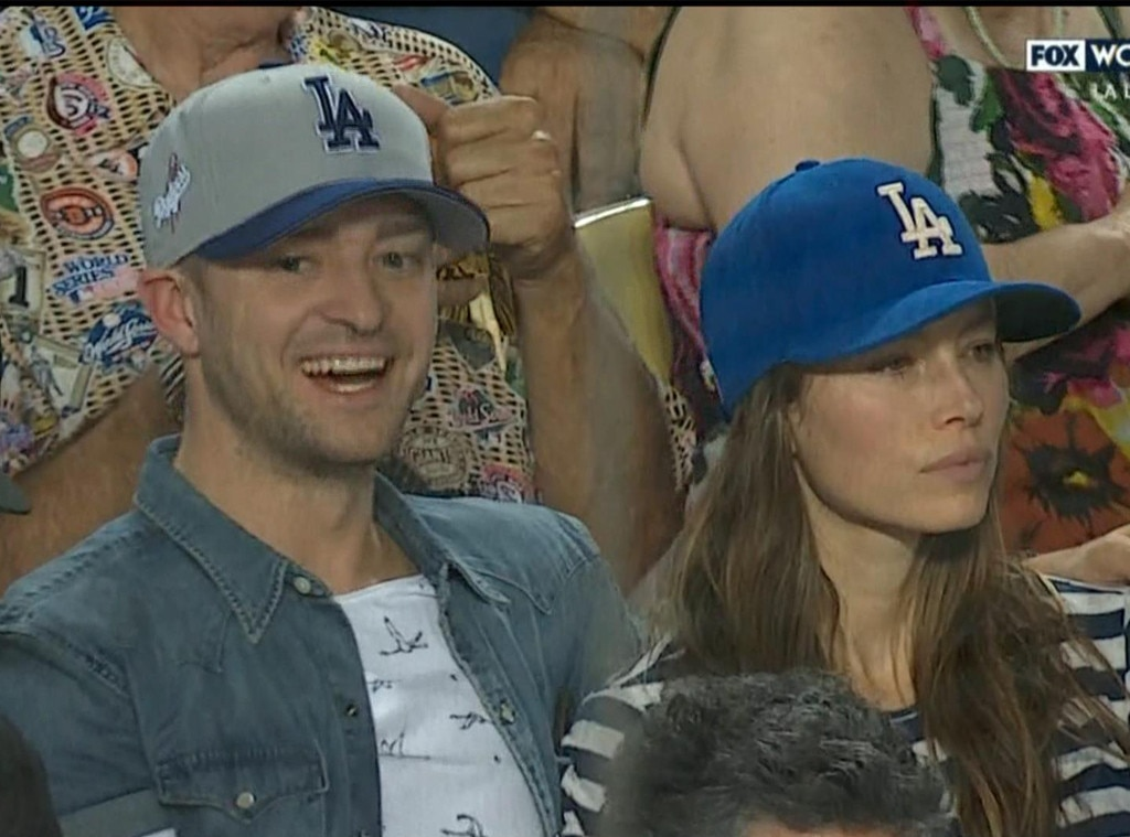 Justin Timberlake, Jessica Biel, World Series 2017